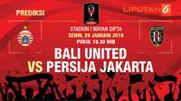 Prediksi Bali United Vs Persija Jakarta (Liputan6.com / Trie yas)
