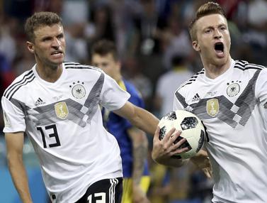 FOTO: Gol Injury Time Toni Kroos Antar Jerman Bungkam Swedia
