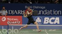 Pebulutangkis Tunggal Putri Spanyol , Marin Carolina, saat melawan pebulutangkis China, Chen Xiaoxin di Indonesia Open 2017 di JCC, Selasa (13/6/2017). (Bola.com/M Iqbal Ichsan)