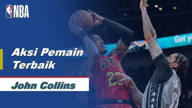 Berita Video Aksi John Collins Bawa Atlanta Hawks Menang Atas Brooklyn Nets 141-118