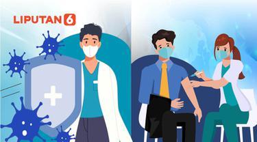 Banner Infografis Memakai Masker dan Vaksinasi Covid-19 Itu Ikhtiar. (Liputan6.com/Niman)