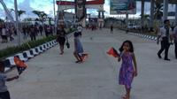Teras depan Perbatasan Indonesia dan Papua Nugini yang terletak di Skouw, Kota Jayapura, Provinsi Papua. (KabarPapua.co/Katharina)