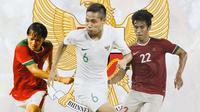 Timnas Indonesia - Adam Alis, Evan Dimas, Hanif Sjahbandi (Bola.com/Adreanus Titus)
