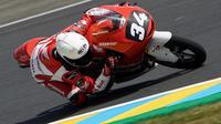 Pebalap muda binaan PT Astra Honda Motor (AHM), Mario Suryo Aji, gagal meraih poin pada balapan di Sirkuit Le Mans, Minggu (19/5/2019). (dok. Honda)