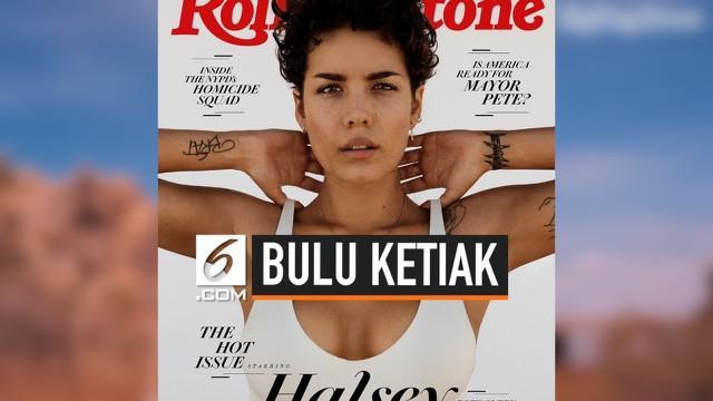 Yang menarik perhatian adalah pose Halsey yang mengangkat kedua tangannya dalam cover majalah musik ternama Rolling Stone. Gaya tersebut menunjukkan bulu ketiak Halsey yang belum dicukur.