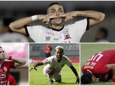 Berikut ini ragam selebrasi unik yang ditunjukan para pemain Liga 1 Indonesia usai berhasil mencetak gol