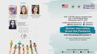 """Diskusi Virtual """"Jurnalis Wanita Berani Hadapi Pandemi"""""""