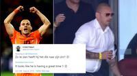 Perubahan postur Wesley Sneijder (Twitter)
