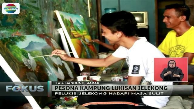 Kampung Jelekong di Baleendah, Bandung, telah lama dikenal sebagai kampung lukisan. Seperti apa, ya?