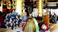 Kuil Shinnyoji, salah satu kuil yang disewakan untuk wisatawan mancanegara di Jepang (Dok.Instagram/@shinnyoji/https://www.instagram.com/p/Bo1N5NDnxJE/Komarudin)