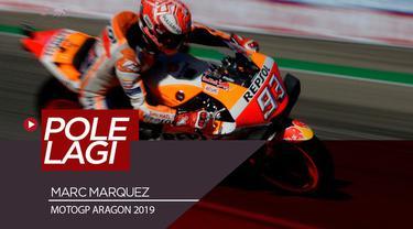 Berita video Marc Marquez meraih pole position di MotoGP Aragon 2019 setelah menjadi yang tercepat di sesi kualifikasi. Sementara itu, Valentino Rossi menempati posisi start ke-6.