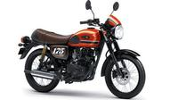 Kawasaki W175 Cafe dengan warna dan grafis baru. (KMI)