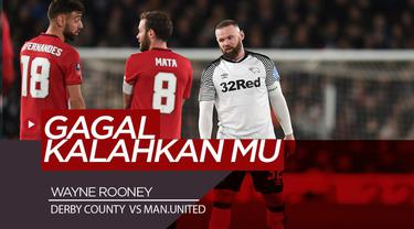 Berita Video Wayne Rooney Gagal Bawa Derby County Kalahkan Manchester United di Piala FA