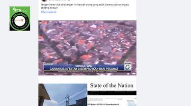 Cek Fakta Liputan6.com menelusuri klaim video penyebaran racun di udara