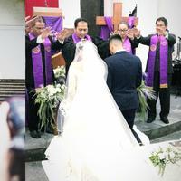 Petra Sihombing dan Firrina Sinatrya menikah [foto: instagram/petra_sihombing/bonzaidecoration_mora]