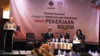 Dialog Nasional mengenai Teknologi dan Pekerjaan Inisiatif Pekerjaan Masa Depan yang digelar Kementerian Ketenagakerjaan RI.