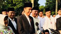 Jokowi Salat Idul Adha di Lapangan tegar Beriman Cibinong Bogor.