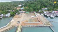 Pos Lintas Batas Negara (PLBN) Terpadu Serasan di Kabupaten Natuna, Kepulauan Riau. (Dok. Kementerian PUPR)