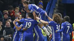 2. Chelsea 2016-2017 – Kedatangan Antonio Conte membuat prestasi Chelsea kian mentereng. The Blues saat itu keluar sebagai juara dengan berhasil meraih 93 poin hasil dari 30 kemenangan dan tiga kali hasil imbang, (AFP/Jim Watson)
