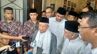 Ma'ruf Amin pun bergerilya di wilayah yang menjadi basis suara calon presiden Prabowo Subianto pada Pilpres 2014. (Liputan6.com/Putu Merta)