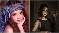 Penampilan memesona Sara Fajira saat pakai makeup tebal. (Sumber: Instagram/@sarafajira)