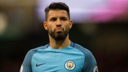 2. Sergio Aguero (Manchester City) - 8 Gol (2 Penalti). (EPA/Peter Powell)