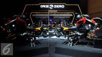 Stand Motor Sport Listrik Zero di IIMS, Jakarta, Kamis (27/8/2015). Karena ekonomi yang melemah target penjualan kendaaran di IIMS tahun ini diperkirakan tidak jauh berbeda dari tahun 2014 lalu sekitar Rp 5 triliun (Liputan6.com/JohanTallo)
