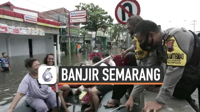 Sudah beberapa hari Kota Semarang Jawa Tengah dilanda musibah banjir. Hingga Senin (8/2) banjir di sejumlah titik belum juga surut.