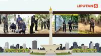 Banner Infografis Ledakan Granat Asap di Monas. (Liputan6.com/Abdillah)