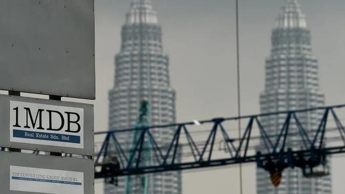 Ilustrasi skandal 1MDB Malaysia (AFP PHOTO/Manan Vatsyayana)