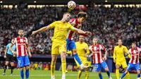 Skor 2-2 menunjukkan laga berlangsung ketat, sampai akhirnya Salah mencetak gol keduanya di menit ke-78 untuk membungkus kemenangan Liverpool. (AP/Manu Fernandez)