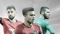 3 pemain Mancehster United: Bruno Fernandes, Mason Greenwood dan David De Gea. (Bola.com/Dody Iryawan)