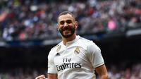 3. Karim Benzema (Real Madrid) - 21 gol dan 5 assist (AFP/Gabriel Bouys)