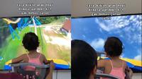 Keseruan bermain roller coaster ayah dan putrinya (@sarah.aidid/tiktok.com).