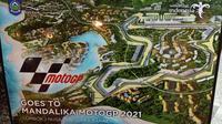 Gambar sirkuit Mandalika untuk MotoGP 2021. (Liputan6.com/Dinny Mutiah)