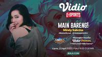 Main Mobile Legends: Bang Bang Bareng Mindy Sabrina, Dapetin Voucher Vidio Premier. sumberfoto: Vidio