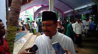 Wakil Gubernur Jatim Syaifullah Yusuf saat menghadiri acara Konfercab NU Bangkalan