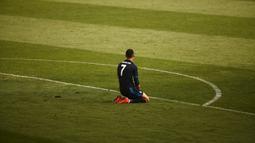 Reaksi Cristiano Ronaldo setelah gagal memanfaatkan peluang di depan gawang Malaga dalam laga La Liga Spanyol di Stadion La Rosaleda, Malaga, (21/2/2016). (Reuters/Jon Nazca)