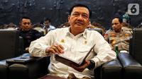 Kepala BIN Budi Gunawan saat menghadiri rapat koordinasi pengamanan pelantikan presiden di Kompleks Parlemen, Jakarta Selasa (15/10/2019). Rapat melibatkan MPR, DPR, DPD, TNI, Polri, dan BIN. (Liputan6.com/JohanTallo)