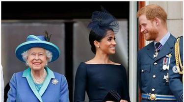 Ratu Elizabeth, Meghan Markle dan Pangeran Harry
