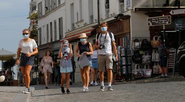 Paris Wajibkan Pemakaian Masker di Tempat Keramaian Terbuka