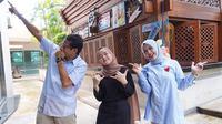 Sandiaga Uno, Nissa Sabyan, Nur Asia (dok. Instagram @sandiuno/https://www.instagram.com/p/Bsr5O1vBYqI/Putu Elmira)