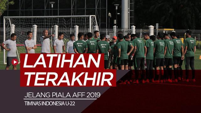 Berita video sesi latihan terakhir timnas Indonesia U-22 di lapangan ABC, Senayan, Kamis (14/2/2019).