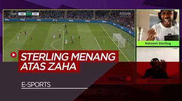 Berita Video tentang Raheem Sterling yang berhasil memenangkan pertandingan dengan Wilfried Zaha dalam kompetisi  FIFA 20
