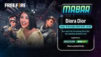 Main bareng Free Fire bersama Diora Dior, Jumat (18/12/2020) pukul 19.00 WIB dpat disaksikan melalui platform Vidio, laman Bola.com, dan Bola.net (Dok. Vidio)