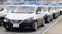 Nissan Leaf menjadi mobil patroli di Jepang (Nissan).