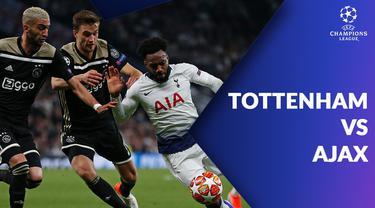 Berita video statistik Tottenham Hotspur vs Ajax pada semifinal Liga Champions 2018-2019 leg 1, Rabu (1/5/2019).