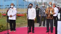 Menteri Perencanaan Pembangunan Nasional (PPN) Suharso Monoarfa meresmikan operasional Pembangkit Listrik Tenaga Uap (PLTU) Gorontalo.