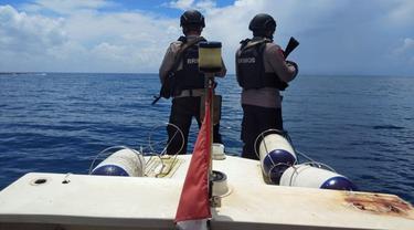 Patroli diawali dengan apel bersama di Pelabuhan Melonguane, Kabupaten Kepulauan Talaud.