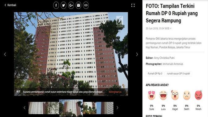 Gambar Tangkapan Layar Artikel dari Situs Liputan6.com.